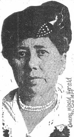 """""""Bessie"""" Drasky : Mrs. Anton Dredla. Edited from Omaha World Herald 25 September 1917. Ancestry acknowledged."""