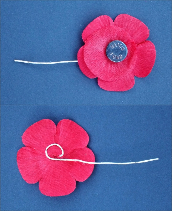 """A """"Haig's Fund"""" Remembrance Poppy. 1930's. Courtesy/© Heather Anne Johnson."""